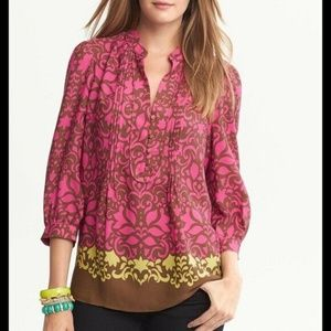 Banana Republic Floral Riviera Blouse